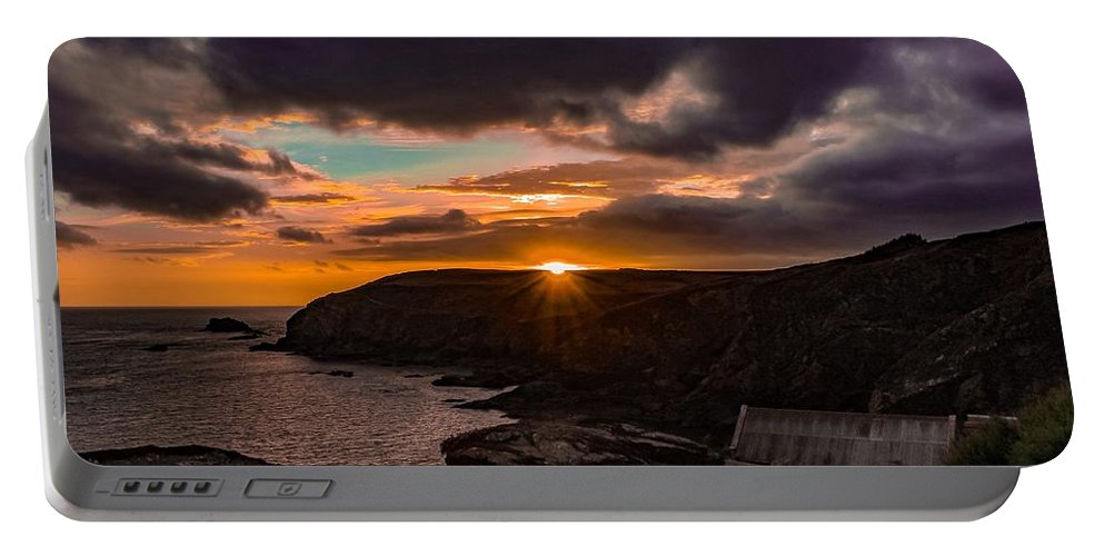 Landscape Portable Battery Charger featuring the photograph Lizard point sunset by Claire Whatley