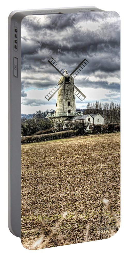 Llancayo Mill Portable Battery Charger featuring the photograph Llancayo Mill Usk 2 by Steve Purnell