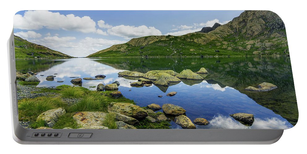 Lake Portable Battery Charger featuring the photograph Llyn Lydaw by Ian Mitchell