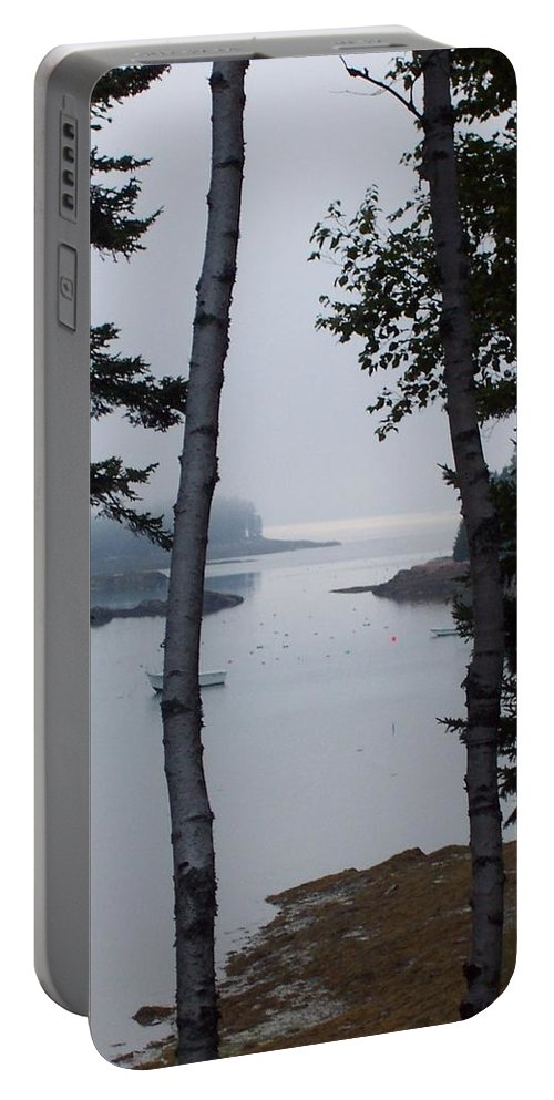 Landscape Portable Battery Charger featuring the photograph Lobster Cove by Lisa Kane