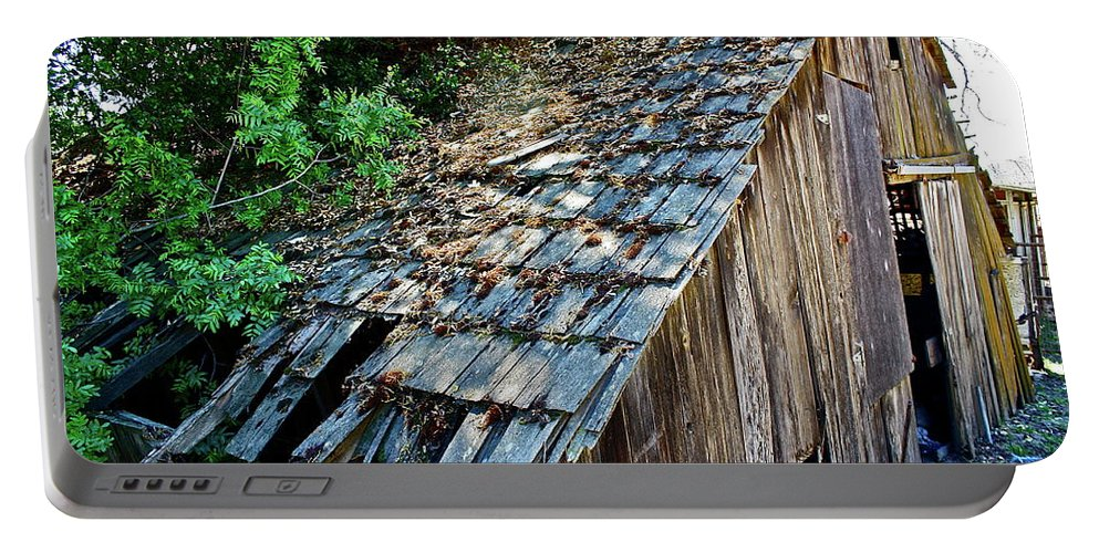 Barn Portable Battery Charger featuring the photograph Local Attraction by Diana Hatcher