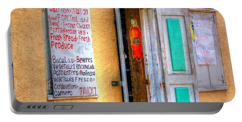 Store Portable Battery Charger featuring the photograph Local Store by Debbi Granruth