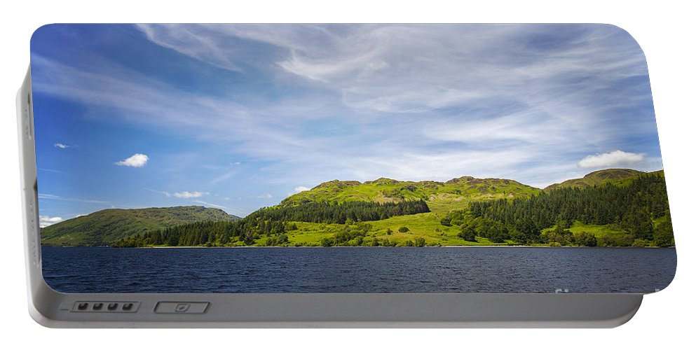 Lake Portable Battery Charger featuring the photograph Loch Katrine Scotland by Sophie McAulay