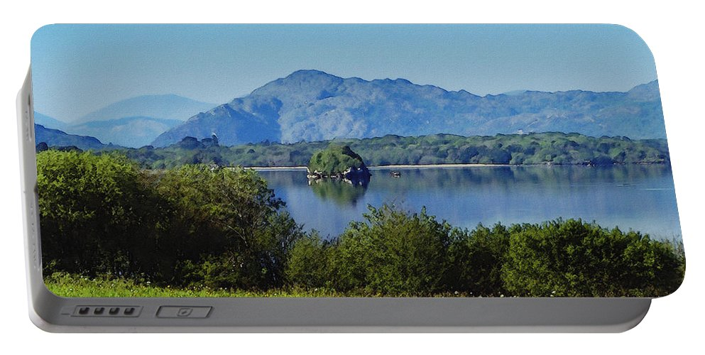 Irish Portable Battery Charger featuring the painting Loch Leanne Painting Killarney Ireland by Teresa Mucha