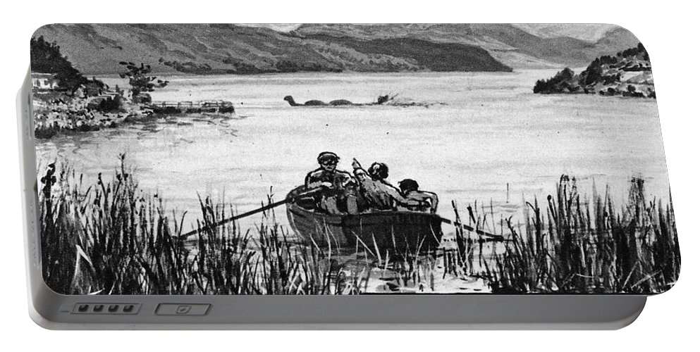 1933 Portable Battery Charger featuring the photograph Loch Ness Monster, 1934 by Granger