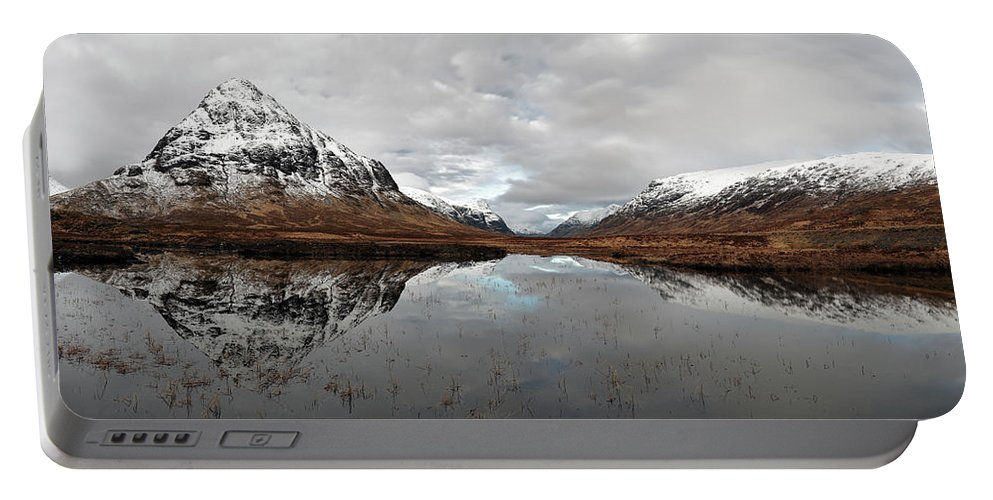 Lochan Na Fola Panorama Portable Battery Charger featuring the photograph Lochan Na Fola Panorama by Grant Glendinning