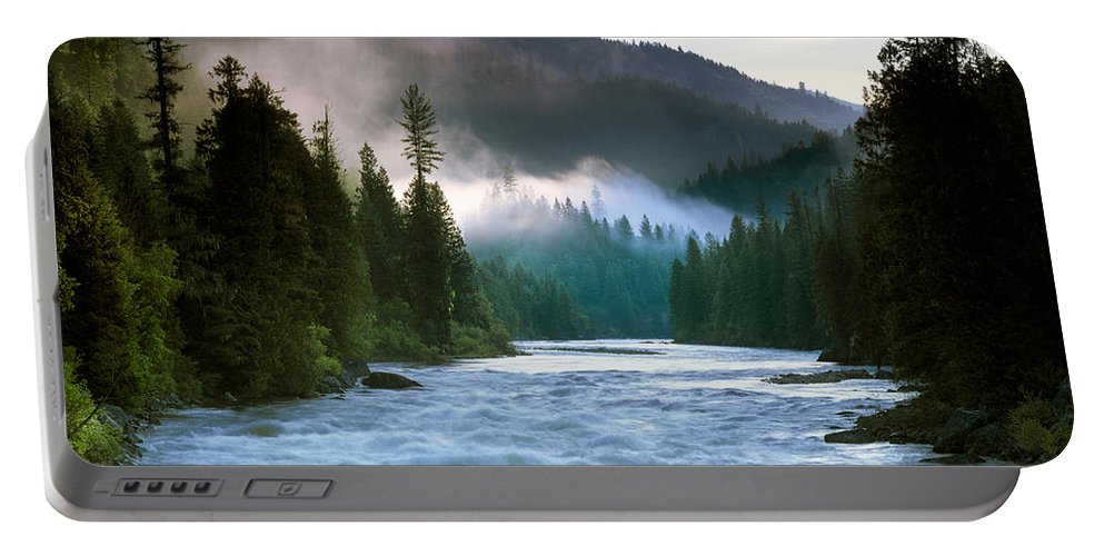 Lochsa River Portable Battery Charger featuring the photograph Lochsa River by Leland D Howard