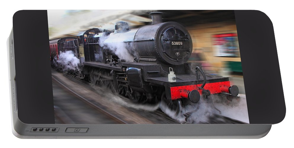 Locomotives Portable Battery Charger featuring the photograph Locomotive 53809 by Rob Lester