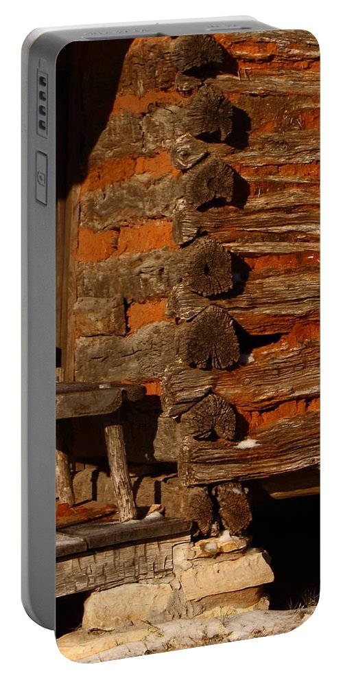 Building Portable Battery Charger featuring the photograph Log Cabin by Robert Frederick