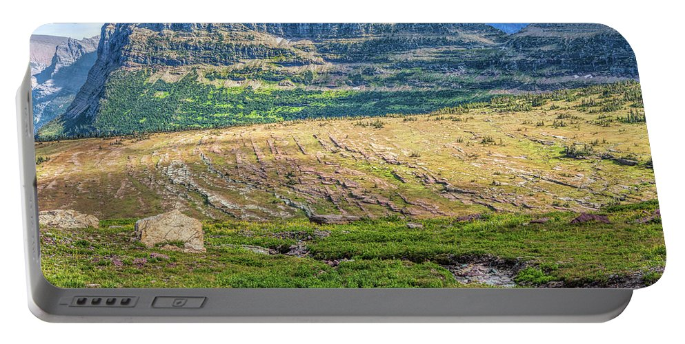 Adventure Portable Battery Charger featuring the photograph Logan's Pass by John M Bailey