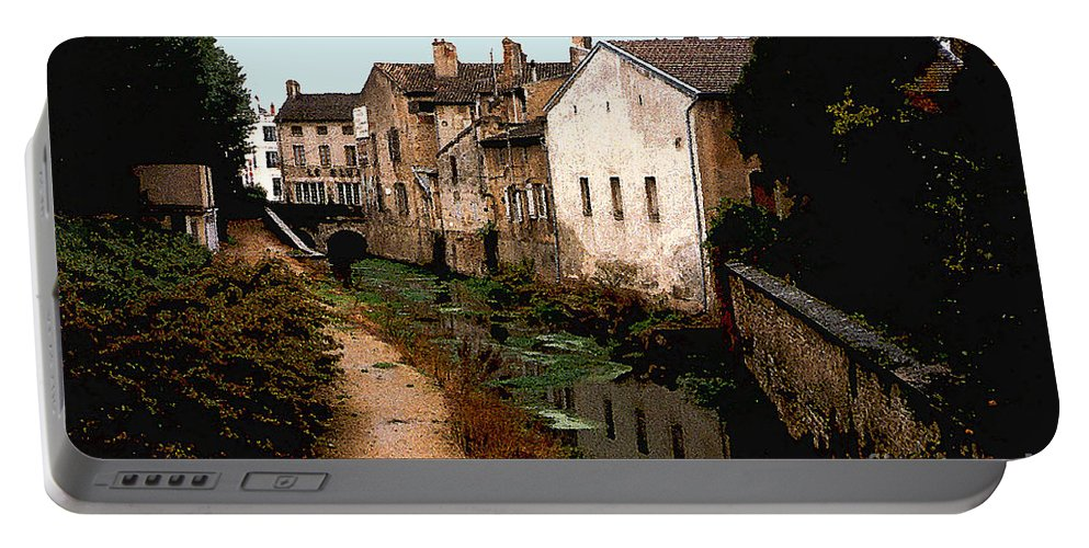 France Portable Battery Charger featuring the photograph Loire Valley Village Scene by Nancy Mueller