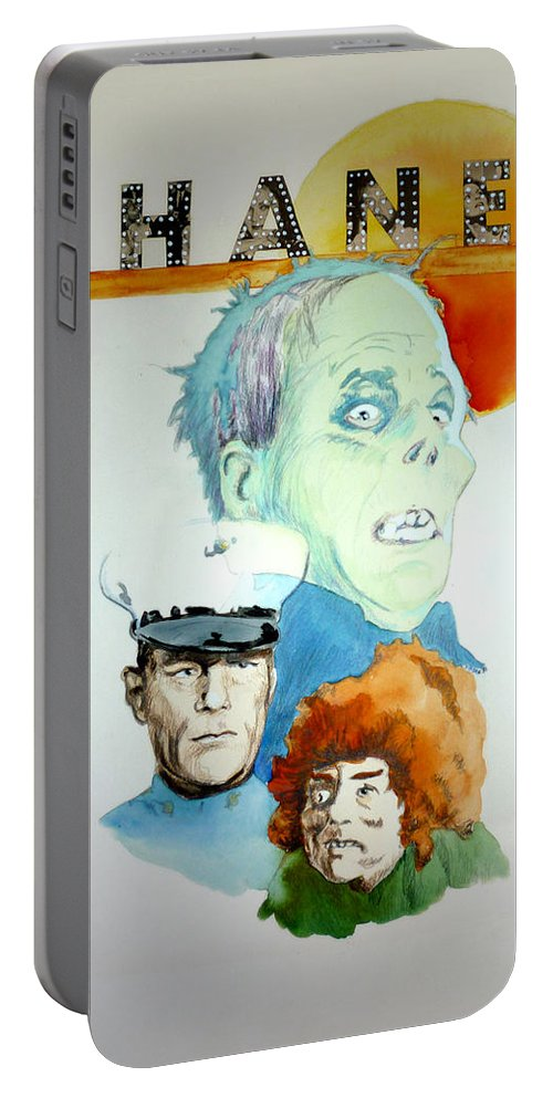 Lon Chaney Sr. Portable Battery Charger featuring the painting Lon Chaney Sr by Bryan Bustard