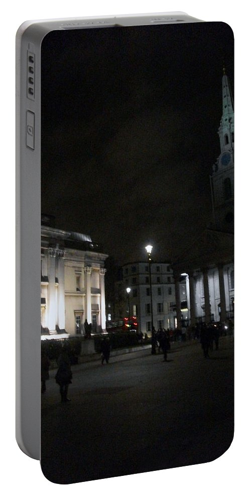 London Portable Battery Charger featuring the photograph London At Night by Munir Alawi