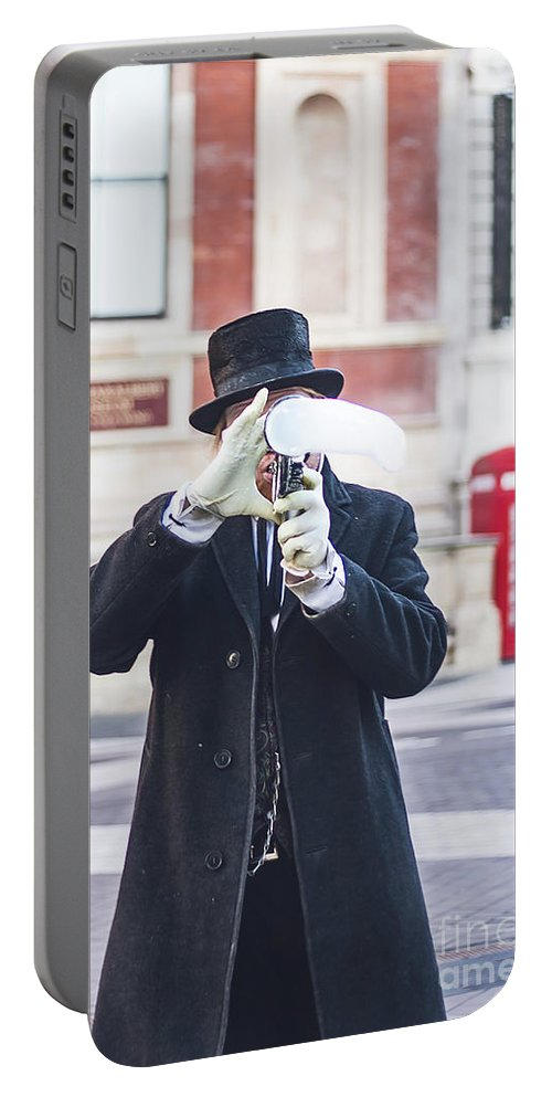 Street Artist Portable Battery Charger featuring the photograph London Bubbles 3 by Alex Art and Photo