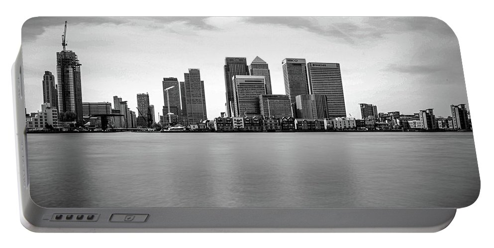 Landscape Portable Battery Charger featuring the photograph London Docklands by Martin Newman