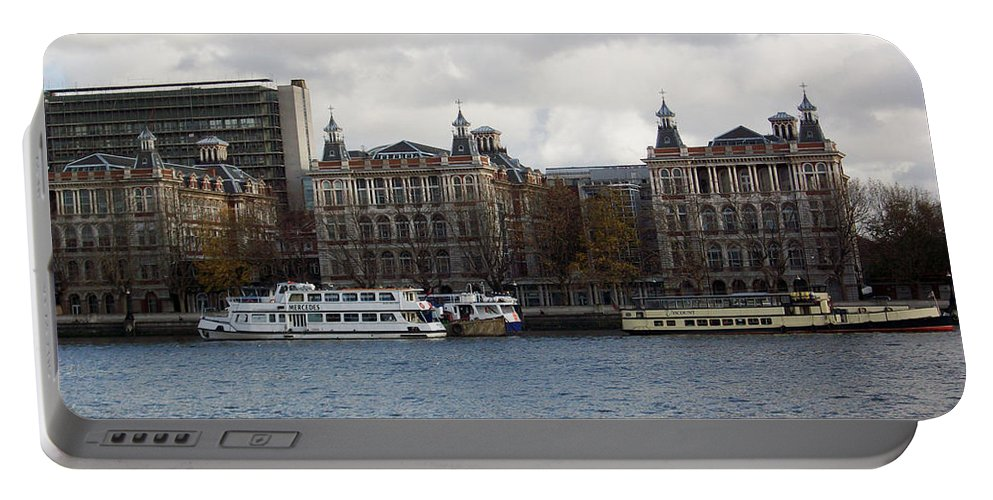 London Portable Battery Charger featuring the photograph London Eye by Munir Alawi