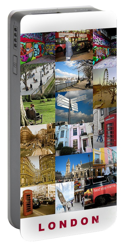 London Portable Battery Charger featuring the photograph London by Madeline Ellis