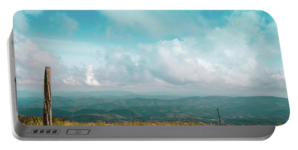 Landscape Portable Battery Charger featuring the photograph Lone Post by Jim Love