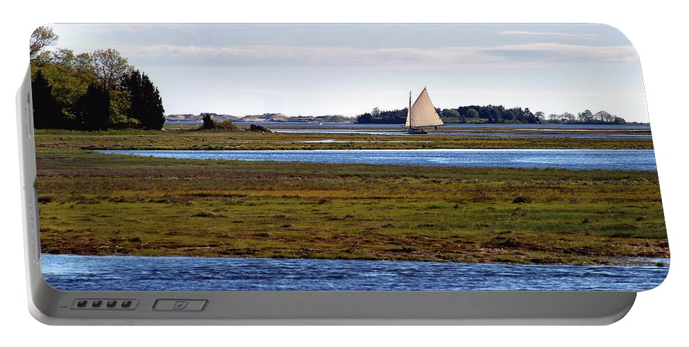Sailboats Portable Battery Charger featuring the photograph Lone Sail by Karl Ford