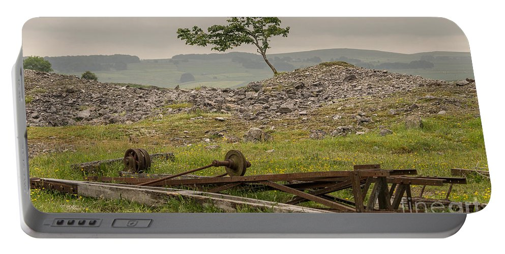 England - Tree - Landscape - Industrial - Historical - Moors - Views - Rocks Portable Battery Charger featuring the photograph Lone Tree by Chris Horsnell