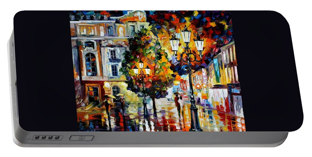 Afremov Portable Battery Charger featuring the painting Lonely Couples by Leonid Afremov