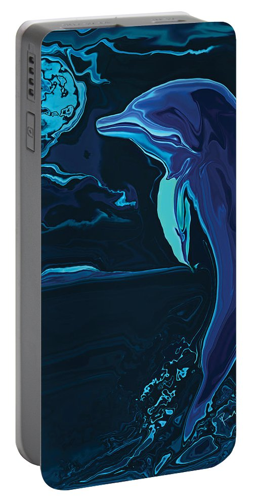 Animal Portable Battery Charger featuring the digital art Lonely Tonight by Rabi Khan