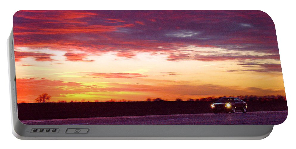Landscape Portable Battery Charger featuring the photograph Lonesome Highway by Steve Karol