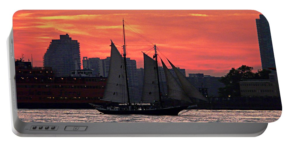 Ship Portable Battery Charger featuring the photograph Long Journey Home by Kendall Eutemey