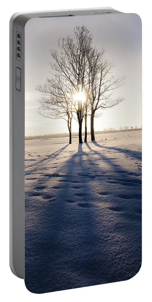 Art Portable Battery Charger featuring the photograph Long Shadows by Svetlana Sewell