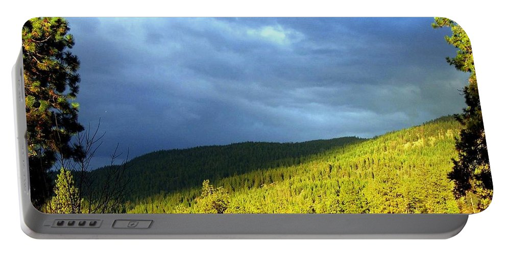 Shadows Portable Battery Charger featuring the photograph Long Shadows by Will Borden