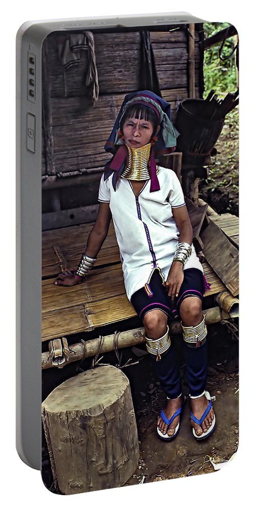 Jungle Portable Battery Charger featuring the photograph Longneck Beauty by Steve Harrington