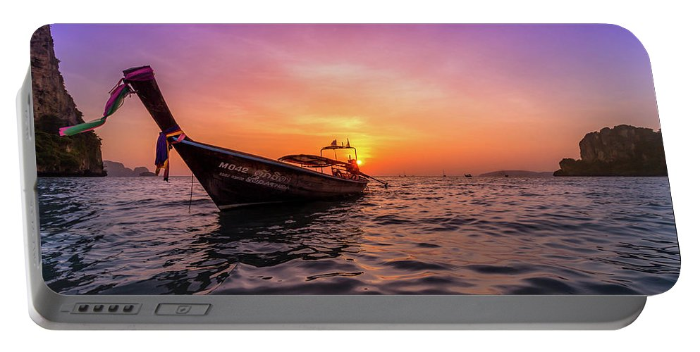 Krabi Portable Battery Charger featuring the photograph Longtail Sunset by Nicklas Gustafsson