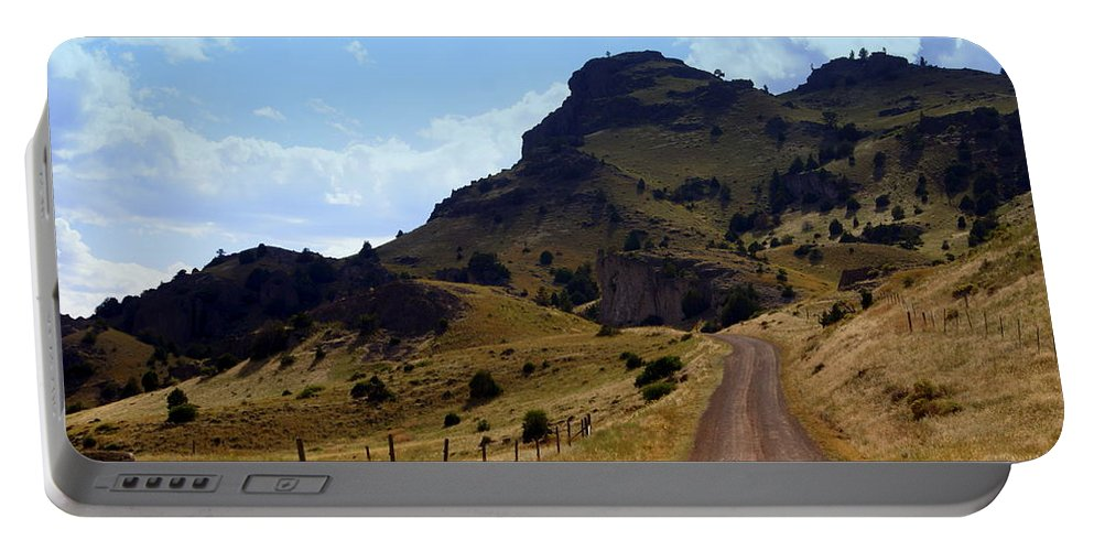 Tom Miner Rd. Portable Battery Charger featuring the photograph Lonly Road by Marty Koch