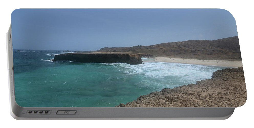 Boca Keto Portable Battery Charger featuring the photograph Looking Down On Boca Keto From A Lava Rock Ledge by DejaVu Designs