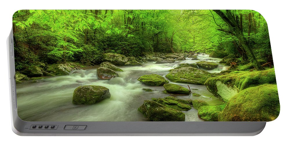 Tennessee Stream Portable Battery Charger featuring the photograph Looking For The Mystery by Mike Eingle