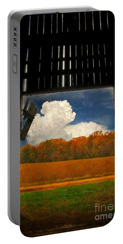 Farm Portable Battery Charger featuring the photograph Looking Out by Lois Bryan