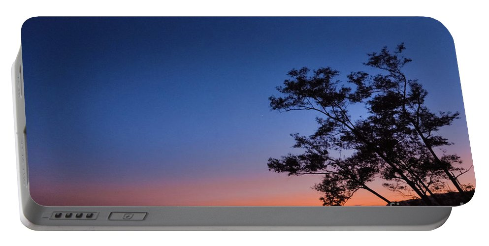 Backlit Trees Portable Battery Charger featuring the photograph Los Angeles At Night by Brooke Meislik