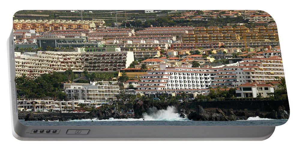 Valasretki Portable Battery Charger featuring the photograph Los Gigantes From The Sea by Jouko Lehto