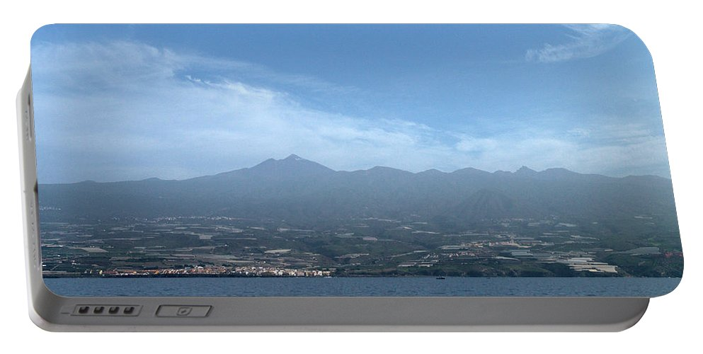 Valasretki Portable Battery Charger featuring the photograph Los Gigantes Panorama by Jouko Lehto
