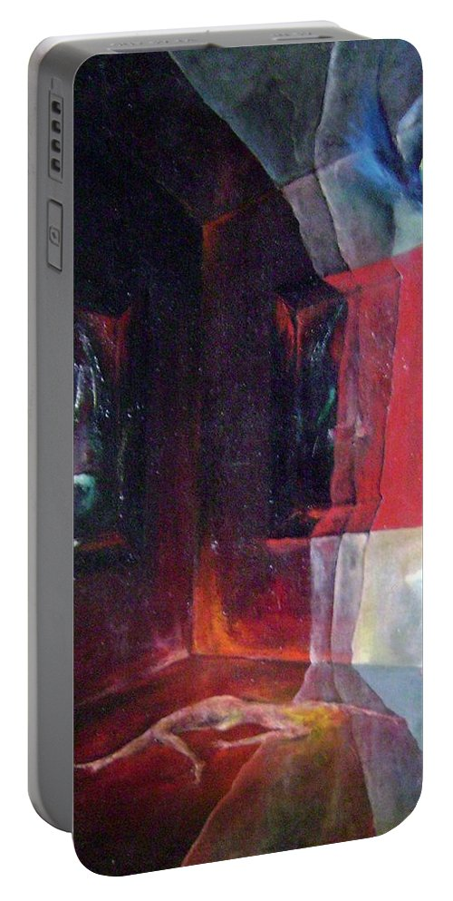 Colour Portable Battery Charger featuring the painting Lost Dreams by Wojtek Kowalski
