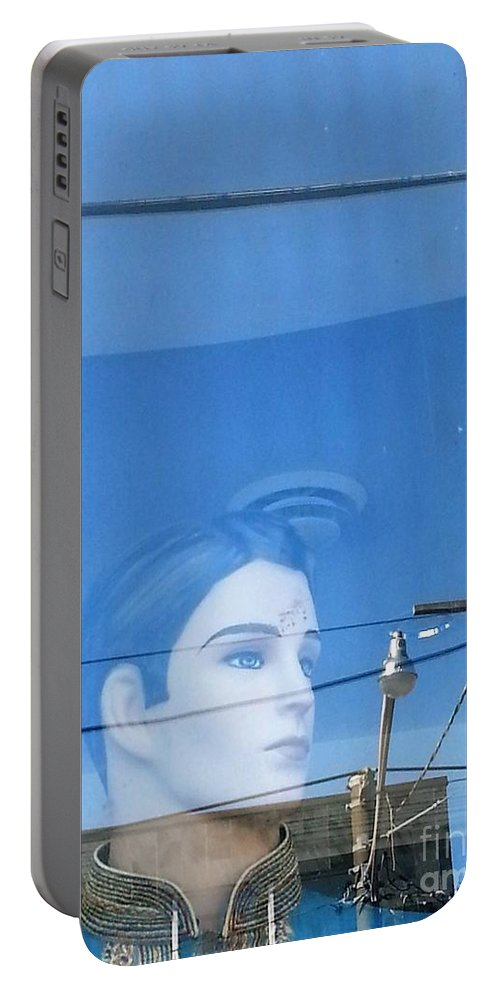 Mannequin Portable Battery Charger featuring the photograph Lost In Thought by Manuel Matas