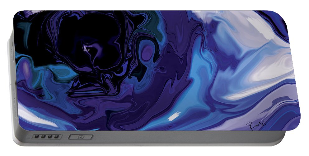 Blue Portable Battery Charger featuring the digital art Lost-in-to-the-eye by Rabi Khan