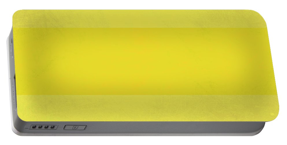 Yellow Portable Battery Charger featuring the digital art Lots Of Yellow by Kevin Round