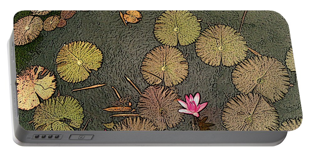 Botanical Portable Battery Charger featuring the photograph Lotus Pond by Mark Sellers