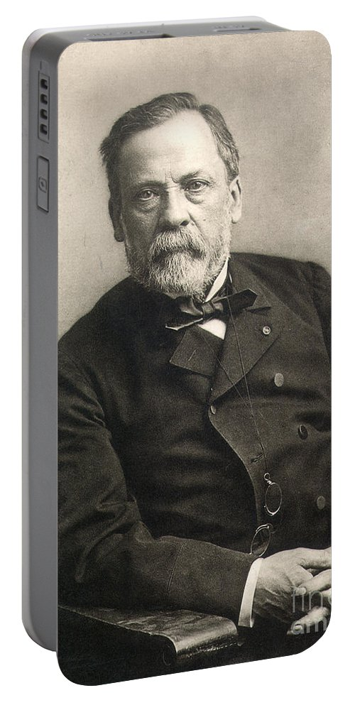 1889 Portable Battery Charger featuring the photograph Louis Pasteur (1822-1895) by Granger