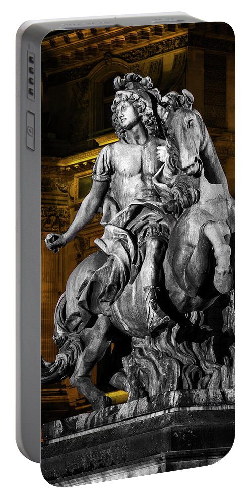 Louis Xiv Portable Battery Charger featuring the photograph Louis Xiv By Bernini by Kendall James