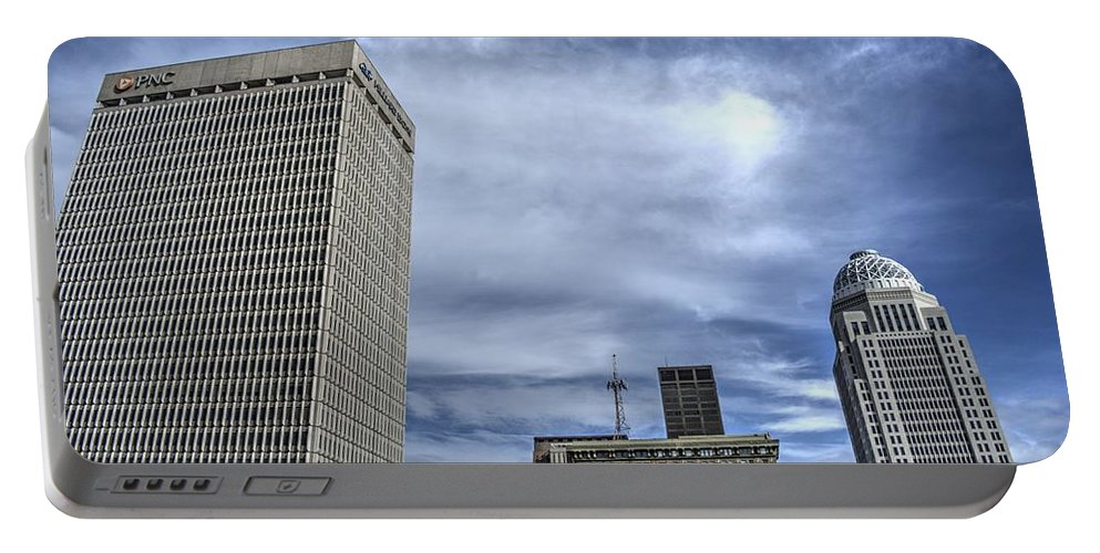Louisville Portable Battery Charger featuring the photograph Louisville Blue Sky by FineArtRoyal Joshua Mimbs