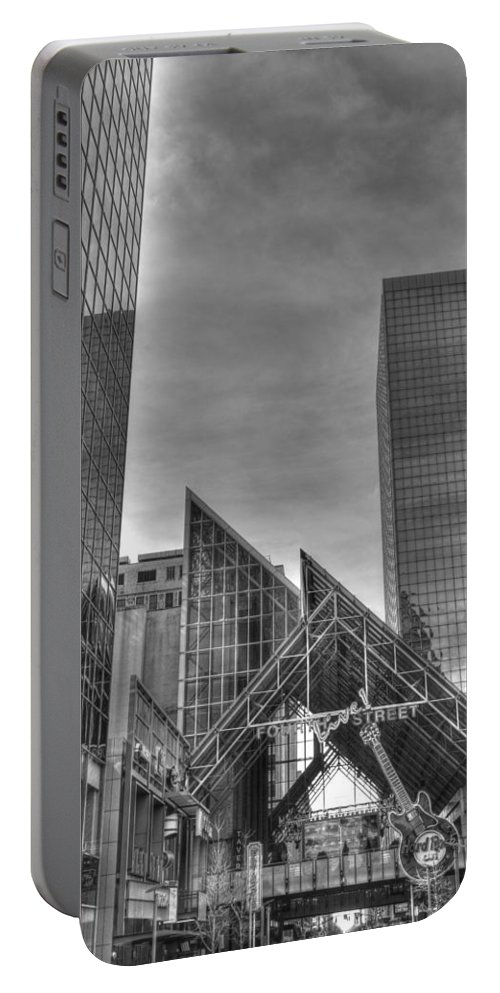 Louisville Portable Battery Charger featuring the photograph Louisville Fourth Street by FineArtRoyal Joshua Mimbs