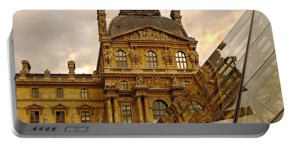 Louvre Portable Battery Charger featuring the photograph Louvre Reflection by Mick Burkey