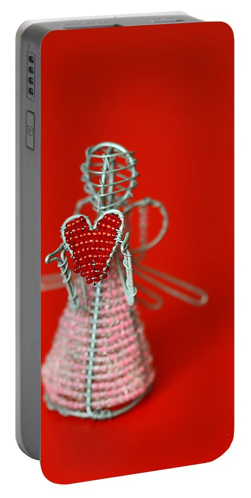 Toy Portable Battery Charger featuring the photograph Love Angel by Evelina Kremsdorf